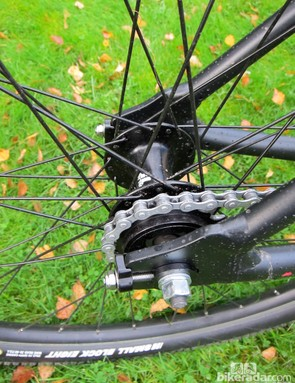 The Vitus Vee-29 comes with a screw-on 18T freewheel