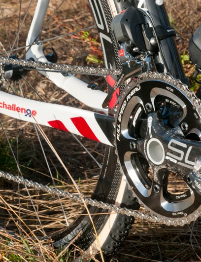Owen uses XTR pedals on his 172.5 FSA cranks