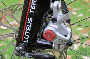 Post mounts on the 3T Luteus Team fork are sized for 160mm rotors
