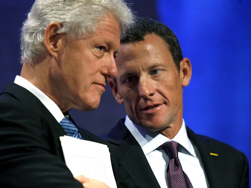 Lance Armstrong had the ear of former US president Bill Clinton as well as other high ranking politicians
