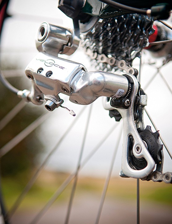 A 12-25 cassette gives a good spread of gears, teamed with a compact
