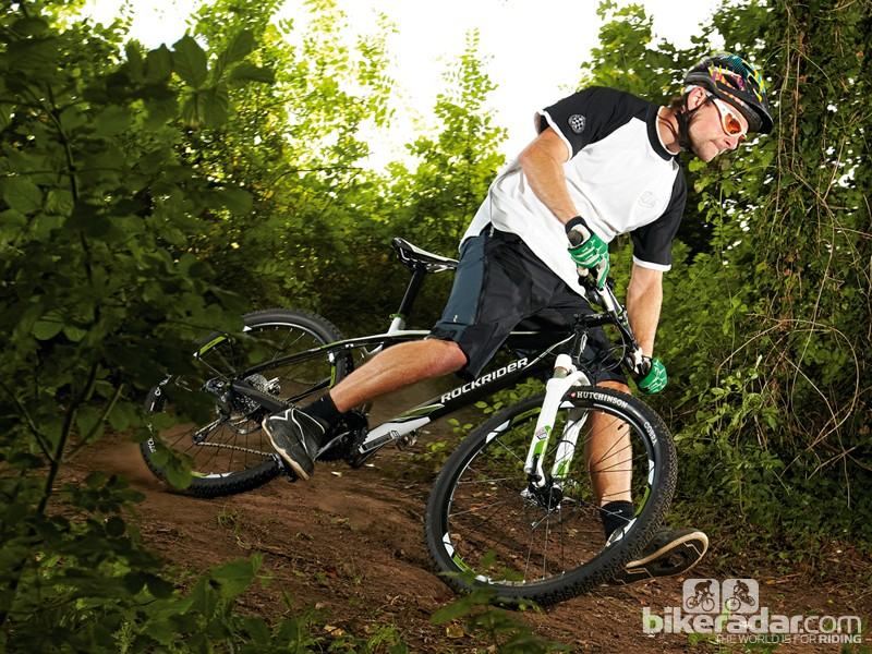 The B'Twin Rockrider 8XC Replica is an all-out race bike