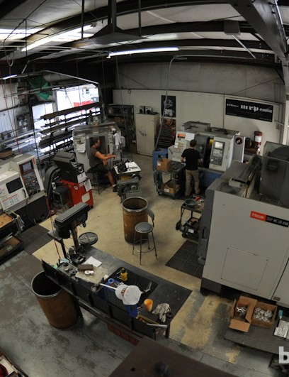 MRP's machine shop is where many of their products' parts are manufactured