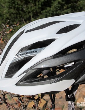 Bontrager has given the Specter XR a stylish shape and two-tone finish, complete with some aluminized fiberglass composite accents for good measure