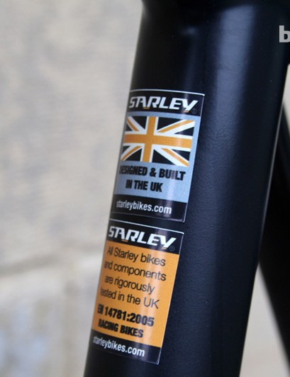 The frame and components undergo quality control testing in the UK