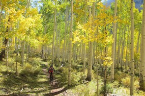 The fall season is a beautiful time to be in the La Sal mountains