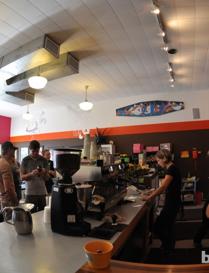 It's hard to find a good place that's not discovered in Moab, as this line out the door of Love Muffin Cafe attests
