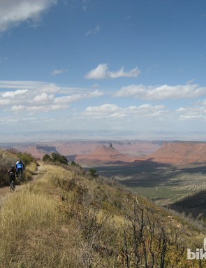 The Whole Enchilada is an all-you-can-eat buffet of incredible riding: Kokopelli trail is shown here