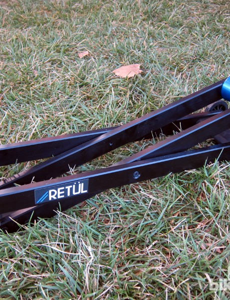 Retül's new micro-adjustable riser block isn't intended for use with home trainers. Rather, it's meant to offer fitters a precise means by which to level bikes for accurate measurements. Suggested retail price is US$350