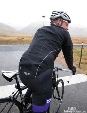Although aesthetically different to a traditional road jacket, the long tail is a welcome addition when the rain is pouring down