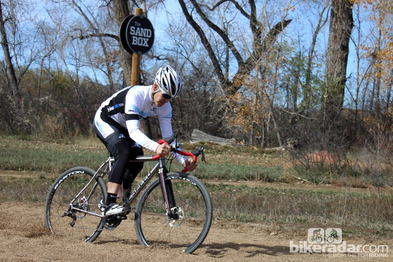 The Litespeed CX's tall bottom bracket comes in handy when driving through deep sand and mud