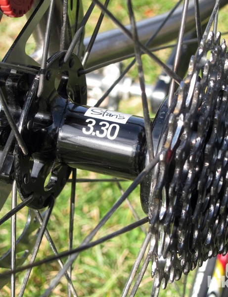 135mm rear dropout spacing will accept any quick-release mountain bike hub