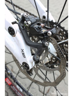 The XO Trail brakes have four pistons and provide plenty of stopping power