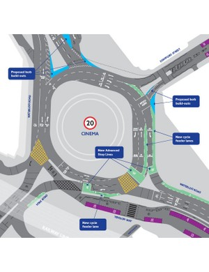 The proposed redesign for Waterloo roundabout, London, UK