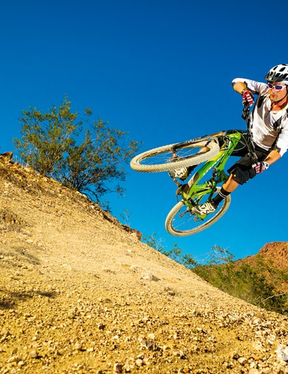 Slack angles make for easy high speed confidence on the Pivot Mach 429 Carbon