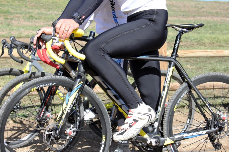 Vermarc's Super Roubaix Double Zip Warmup Tights are ideal for cyclocross, as you can keep them on until literally seconds before your start