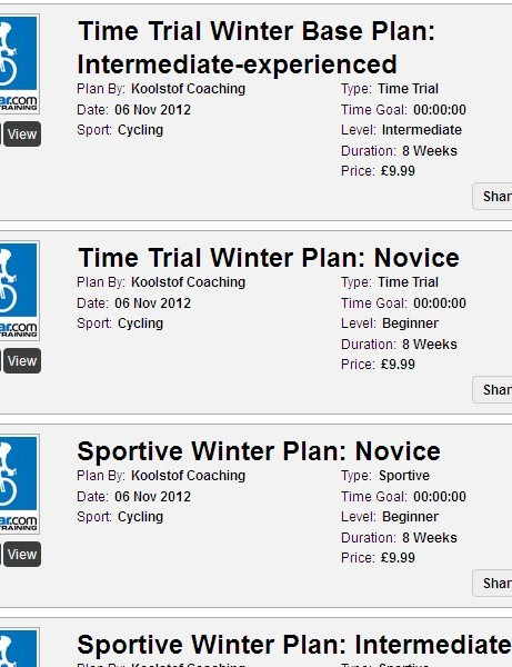 Seven new winter training plans are now available on BikeRadar Training