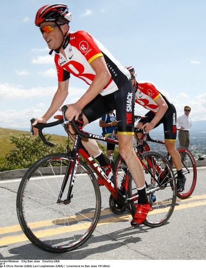 Chris Horner in Curve socks