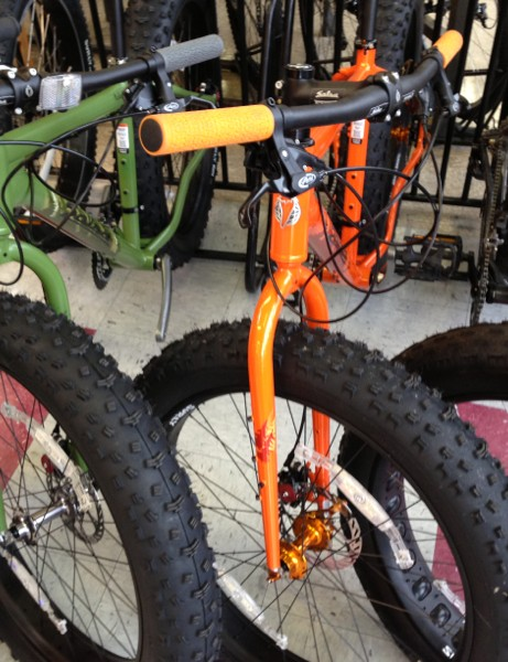 Riders at Belmont are enjoying the fat bikes from Surly and Salsa