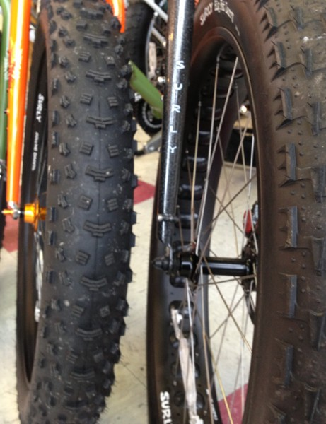 Just how fat is a fat bike? The rubber runs about 4in wide