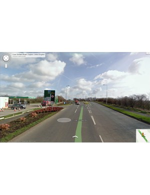 Google Maps shows the petrol station on the A5209 where the collision occurred
