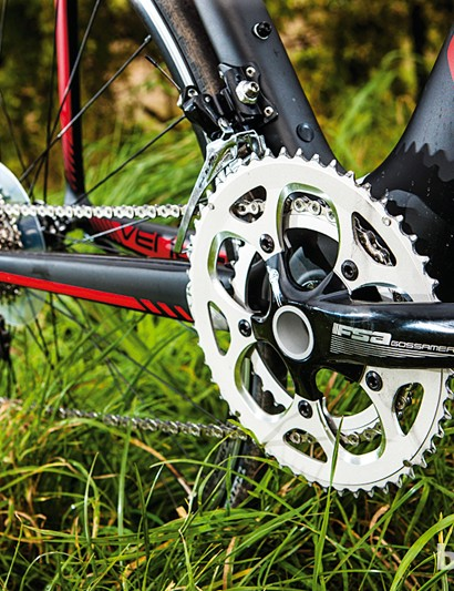 The 'pro' compact gives higher gearing than a typical 50/34