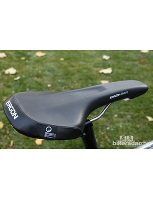 Ergon's SM3 saddle has a relief channel down the center and a perch designed to cup your sit bones