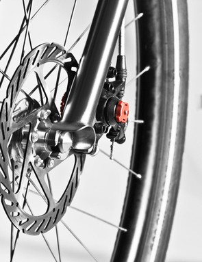 Avid road disc brakes on the No. 2