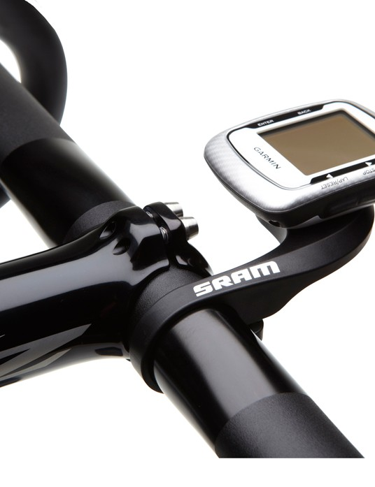 The new SRAM QuickView puts your Garmin Edge 200/500/800 computer out front where it's easier to see than the stock stem mount. What sets it apart is the US$20 price tag - half that of other comparable mounts, including the one from Garmin
