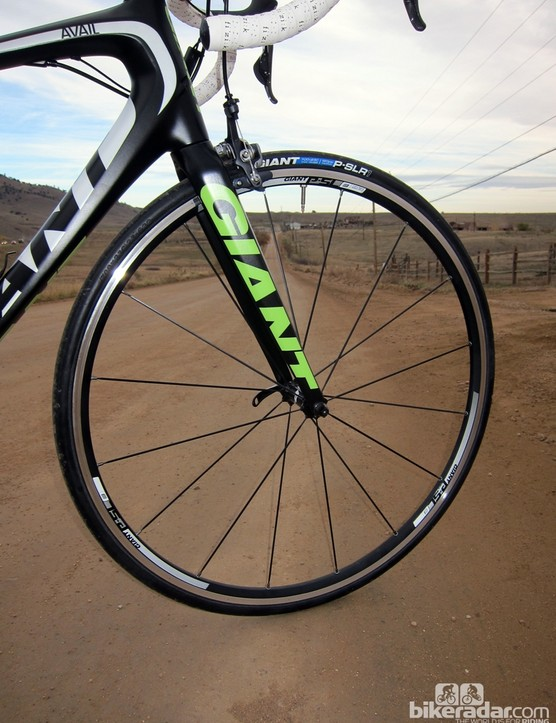 Giant's own shallow-profile aluminum clinchers come stock on both of the Liv/giant Avail Advanced SL complete bikes
