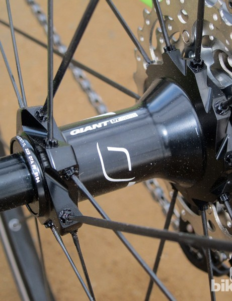 The rear hub on Giant's P-SL0 and P-SLR1 wheels features internals made by DT Swiss