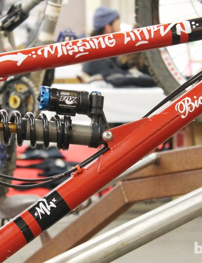 Fox DHX shock on Bicycle Fabrications' downhill 2-D suspension design