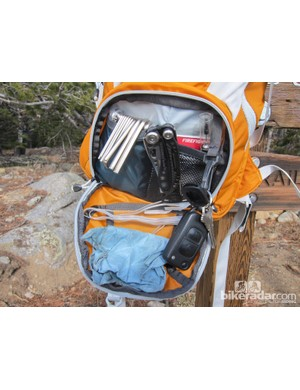 Unlike some of Hydrapak's past rucksacks, the new Tamarack has openings that allow full access to internal pouches
