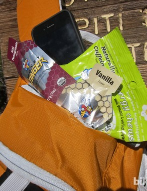 The media pocket has plenty of room for a smartphone and handful of snacks
