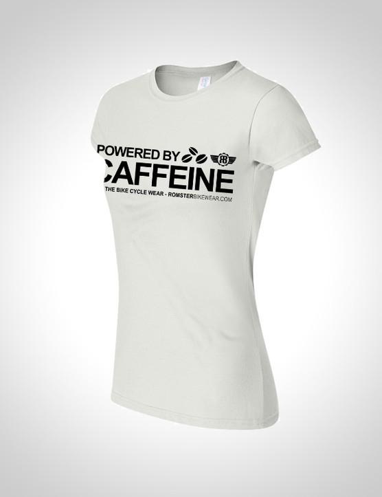 'Powered by Caffeine' women's T-shirt