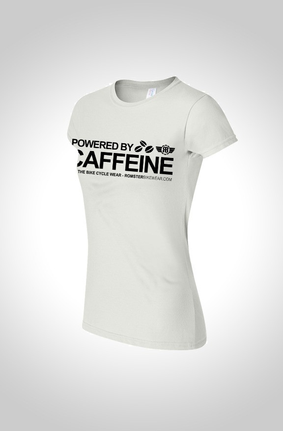 'Powered by Caffeine' women's T-shirt