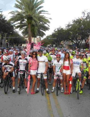 Cipo and 1,000 riders take the start of the Miami Gran Fondo Giro d'Italia