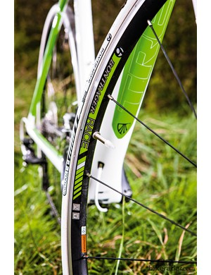 The Bontrager wheels are a highlight: stiff and smooth rolling