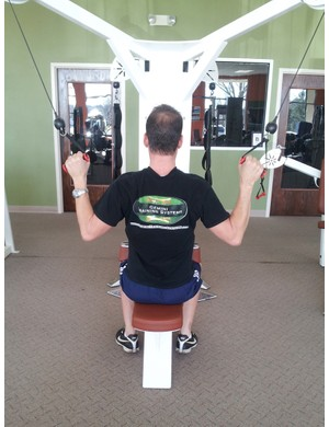 Lat pulls are good for strengthening the shoulders and supporting muscles