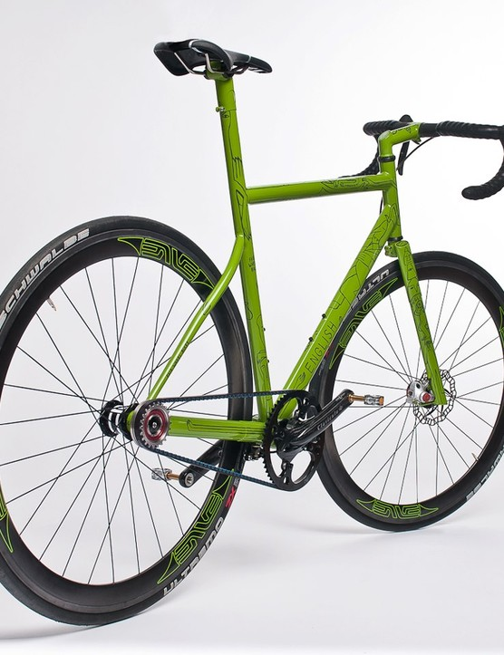 Fairwheel Bikes joined forces with Rob English to create this wild single-sided steel road bike
