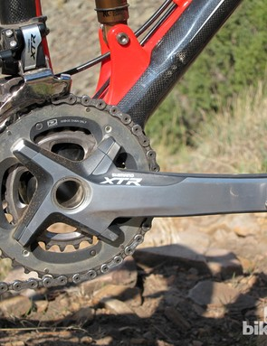 Considering the Felt Edict Nine LTD's sporting intentions, the Shimano XTR 2x10 drivetrain offered up all the gears we needed