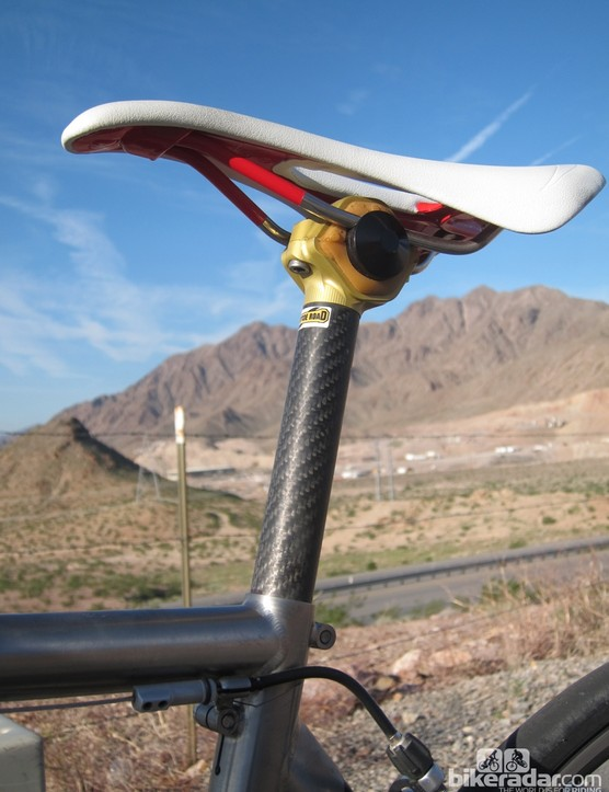 The Cantitoe Road BioFloat seatpost looks unusual but so is the way it improves ride quality
