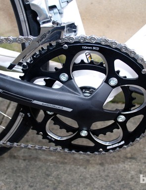 The Belief is specced with an FSA Omega Compact 50/34T crankset
