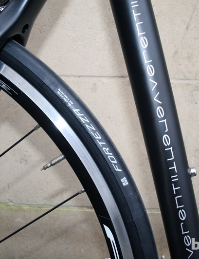 Black and white decals keep the Verenti Insight simple