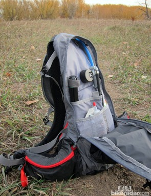 The main storage compartment runs the full length of the pack and is spacious enough for multiple layers of clothing