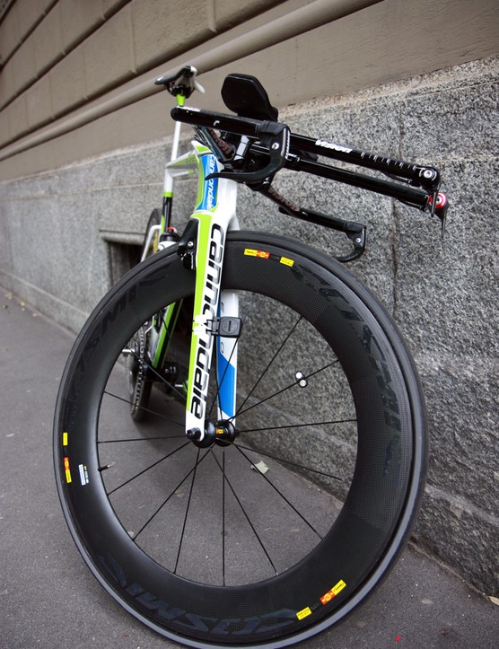 Liquigas-Cannondale had been using Mavic wheels for the past few seasons but with the new team name - it's now known as Cannondale Pro Cycling - comes a new wheel sponsor, Vision