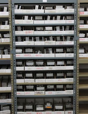 There are shelves full of injection molds for all the plastic components