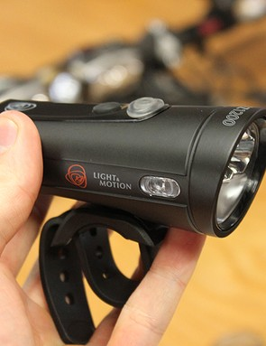 The finished Taz. Light & Motion bills it as a 'crossover' light, designed with commuters in mind but with a maximum output of 1,200 lumens meaning it's bright enough for singletrack excursions