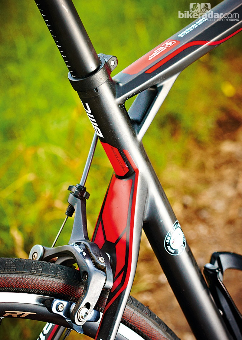 The short seatstays and flattened top tube add to the comfort