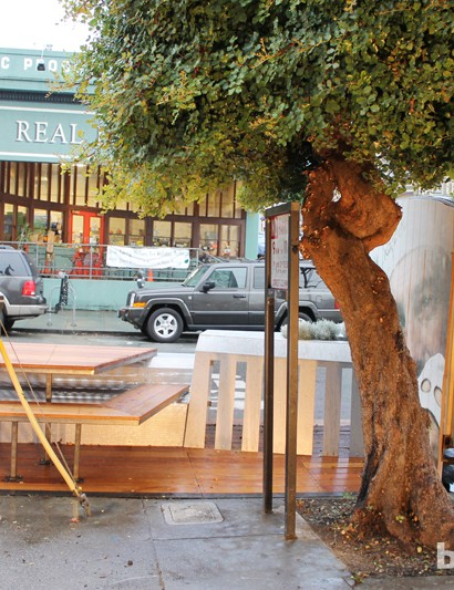 This is the first parklet in the Marina District of San Francisco